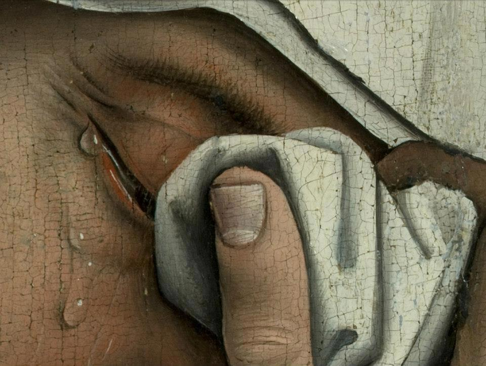 Rogier van der Weyden, Deposition from the Cross, detail. 1435 Museo del Prado, Madrid