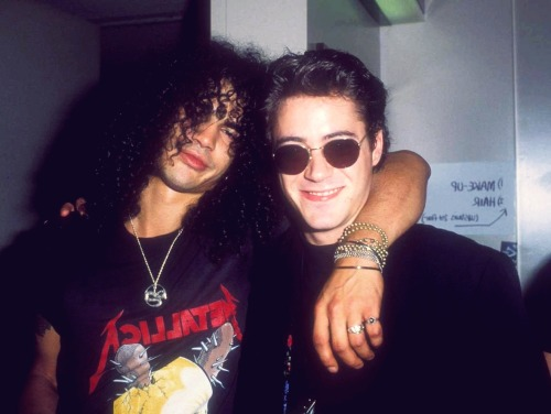 Slash and Robert Downey Jr.