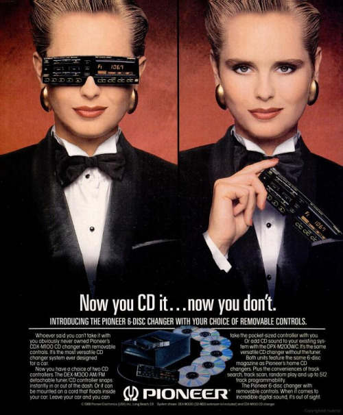 highway62:  1988, and 'Cyberpunk' was the word on every AD's lips. Every AD desperate to grab an eyeball or find a way to get the client off their back. Cyberpunk, the magic anodyne. A little new wave, but sleeker. A little spiky but more refined. Cyberpunk, the heartbeat of a generation. Source: SPIN Dec, 1988 Via Michael Daddino.