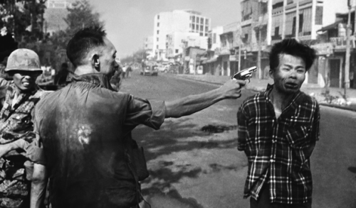 General Nguyen Ngoc Loan Executing a Viet Cong Prisoner in Saigon is a photograph taken by Eddie Adams on 1 February 1968.The photo won Adams the 1969 Pulitzer Prize for Spot News Photography, though he was later said to have regretted its impact. The image became an anti-war icon. Concerning Loan and his famous photograph