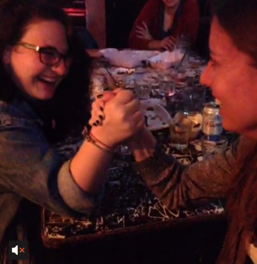Favorite Things of Last Night: Arm-Wrestling at Tempest (via Vine)