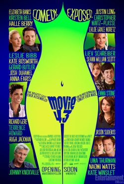 Movie 43 (2013) This movie is such a shame. The idea of a comedy anthology with a whole bunch of stars in it is a great idea. This end result is godawful. Were some of the shorts better than others? Of course. But were any of them actually good? No. Not a single one. There were small bits that weren't a complete waste of time, but not many. Far too much immature, lame humour without a bit of taste. I imagine most of the actors involved regret doing this. I know I regret watching it.