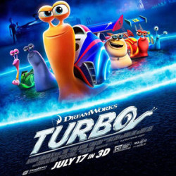 Second Turbo International Trailer and New PosterA snail's journey from slow beginnings to the Indianapolis 500 is chronicled in the second international trailer for Turbo. Ryan Reynolds voices the title character, who dreams of one day being fast like his idol, five-time Indy 500 champion Guy Gagne (Bill Hader). When a mishap gives him the speed he has always wanted, this snail sets off on a journey to make his dreams come true. In addition, DreamWorks Animation has released a poster, which pokes a bit of fun at Universal's Fast & Furious franchise.[MovieWeb]