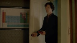 bunnyblanket:  Sherlock is such a huge nerd he has a framed poster of the periodic table. In his bedroom.  One of the 800,000 reasons I love him.