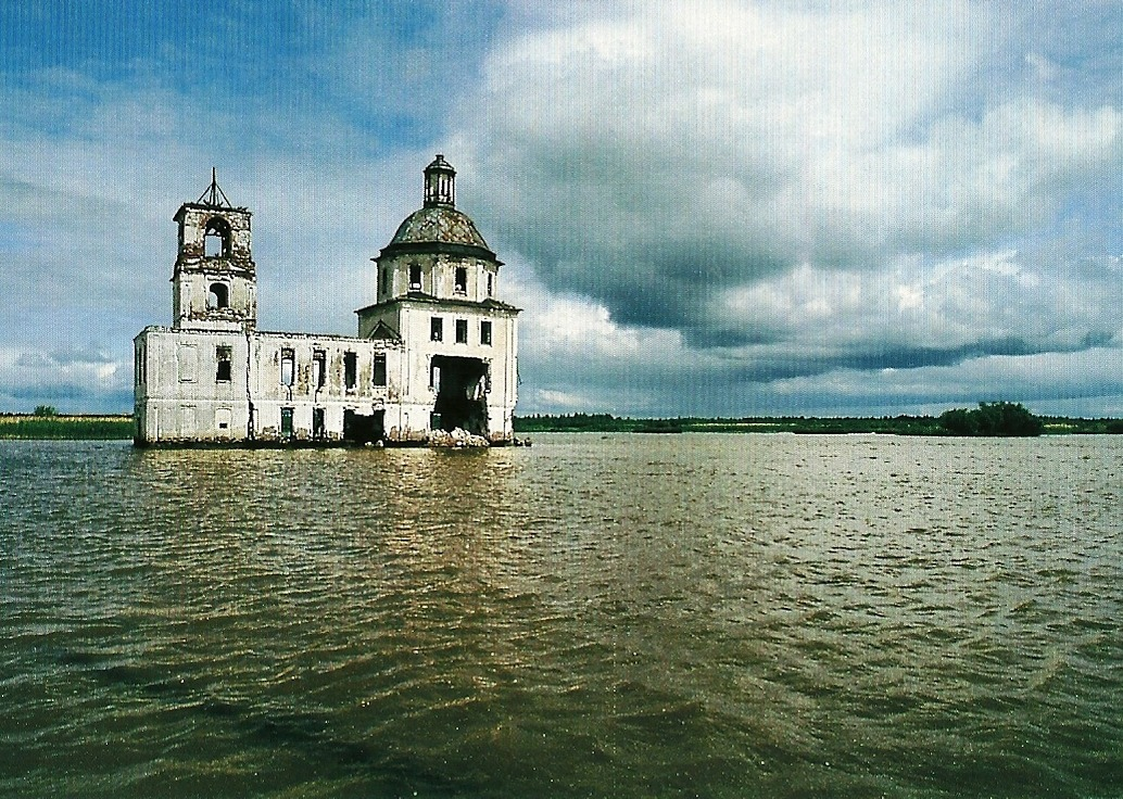 Flooded and abandoned Russian Orthodox chapel in Russia National Geographic | June 1994