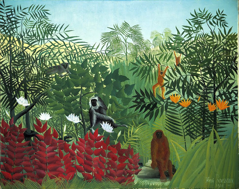 Henri Rousseau Tropical Forest with Monkeys, c. 1910