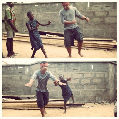 That time when I taught a village girl how to crank that soulja boy. #savinglives #developmentwork