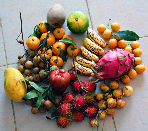 gettingahealthybody:  Love all of these fruits!  Thai fruit ! Miss it
