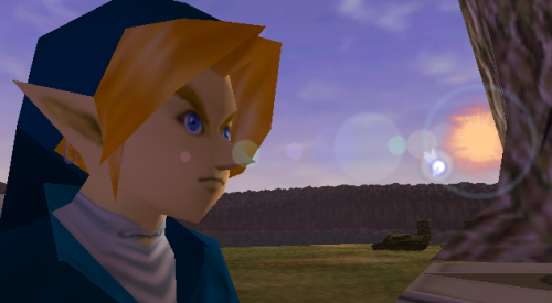 In which we can clearly see that Link's nose is so radiant that only a lens flare effect can properly convey its majesty