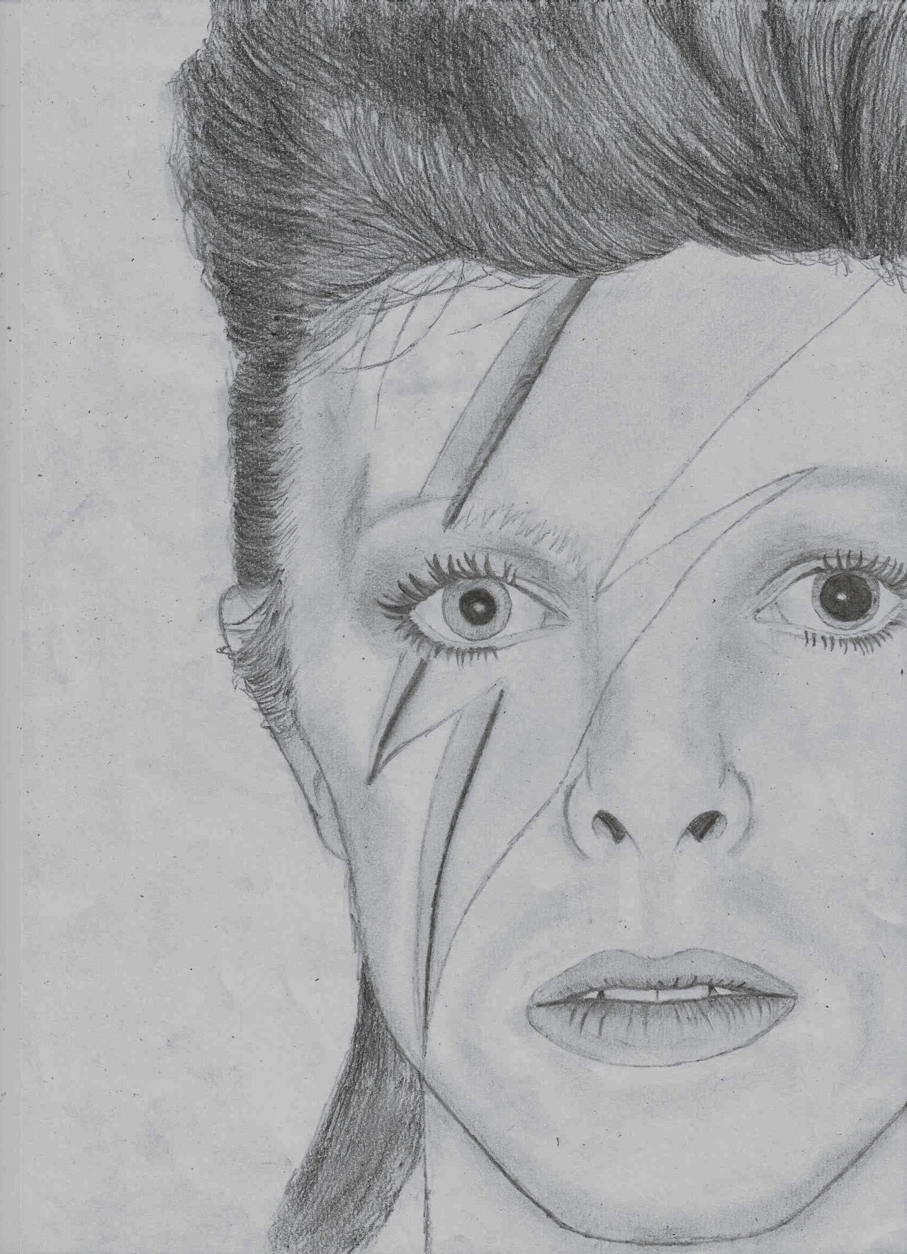 a-n-x-i-o-us:  i drawed another david bowie today because i'm pretty obsessed and i have no life