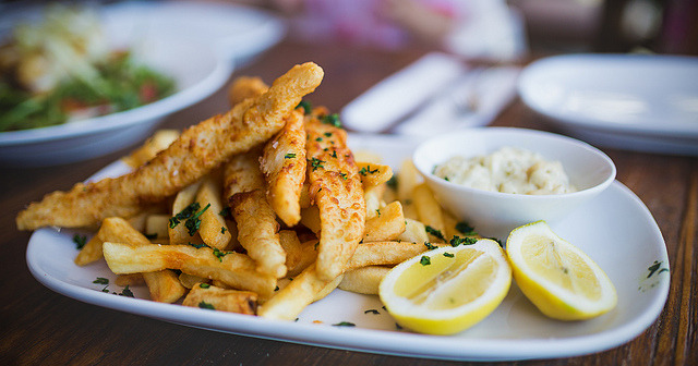 dollop-a-daisy:  Australia's Famous - Fish & Chips (Explored) by Kinson C on Flickr.