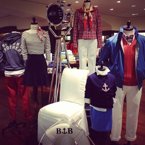 Come sail away.  @brooksbrothers #brooksbrothers #bb #fashion #style #menswear #mensstyle #mensfashion #prep #preppy #trad #ivy #instastyle #instafashion #mannequins #bustforms #visual #america #sailing #nautical #sail #wasp