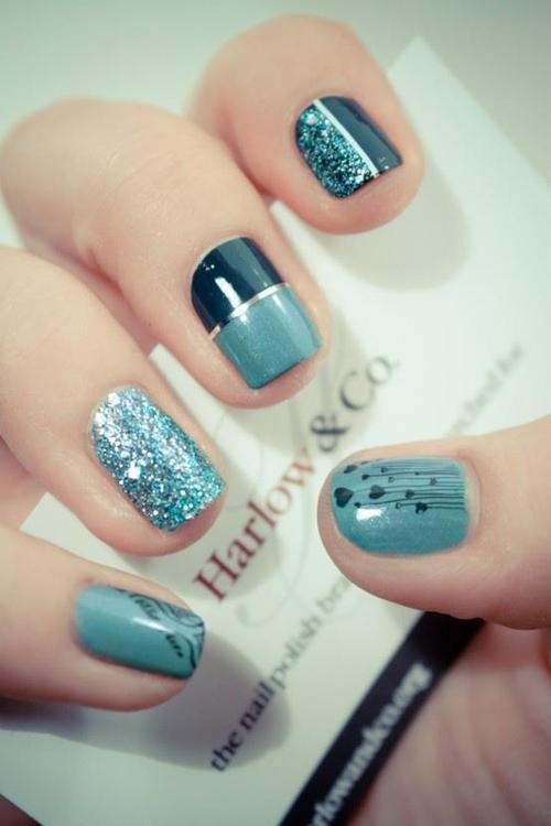 lights-and-effects:  Nails : ) love it / Nails on We Heart It - http://weheartit.com/entry/54807701/via/mabi_  So cute :)