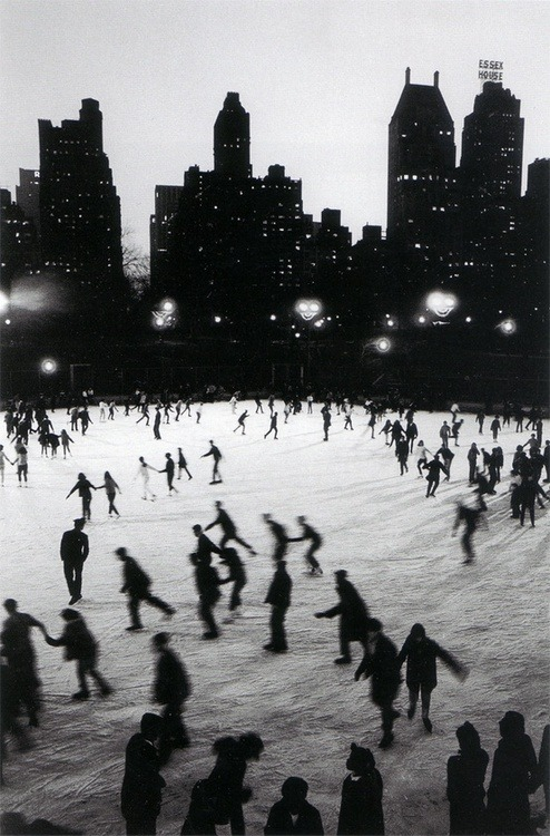 silfarione:  Ice Skating in Central Park at the Wollman Rink. Photo by Bruno Barbey.