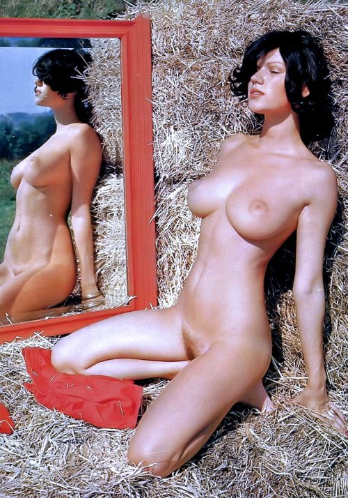 daysgonebyporn:   Brigitte Lahaie Enjoying The Sun in The Hay!