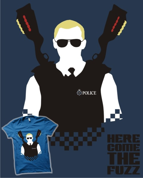 My Hot Fuzz T-shirt design, 'Here Come The Fuzz', has reached 200 votes over at Qwertee.com! I think it can do better than that though so if you haven't done it already head over to www.qwertee.com/product/here-come-the-fuzz and vote if you'd like to see it printed!