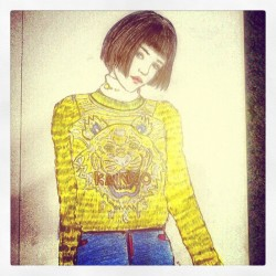 #new #sketch #illustration #kenzo-ism by #vaniabangun . My blog coming soon aye ^…^