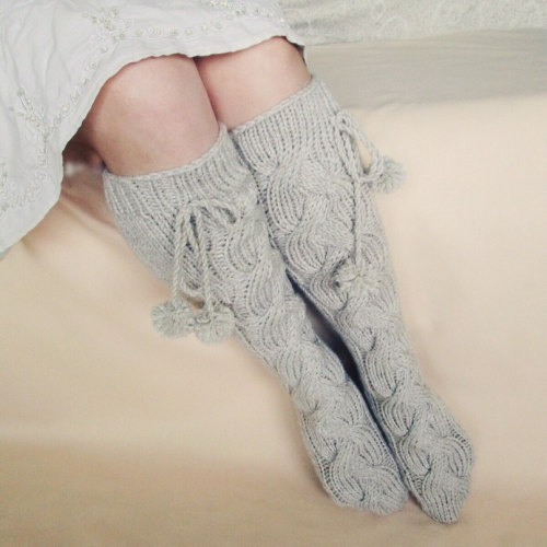 wool socks wool knee high socks cute hand knit socks accessories kids socks Gift for woman G