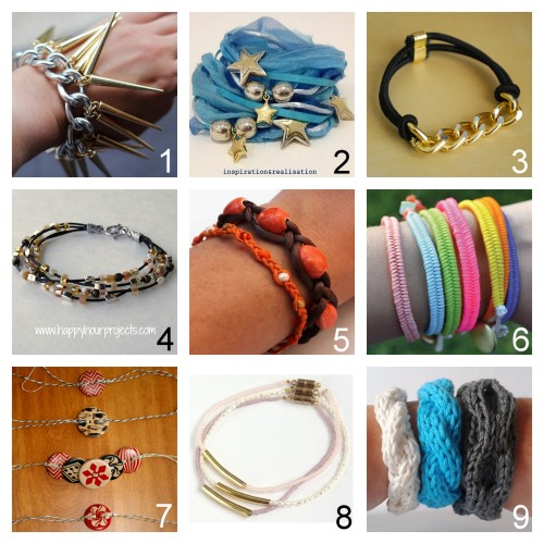 truebluemeandyou:  True Blue Me & You DIY Gift Guide: Bracelets. I've posted bracelets that you can actually do by the holiays. To see other roundups of DIY gifts go here:truebluemeandyou.tumblr.com/tagged/diy-gift-guide After Looking through 48 pages of Bracelets, these are my Favorite Bracelets to DIY for Gifts. Part Eight Spike Bracelet from stripes + sequins here. Ribbon and Silk Wrapped Charm and Bead Bracelet from inspiration & realisation here. Marc by Marc Jacobs Inspired Sporty Turnlock Bracelet Tutorial by Swellmayde here.  Leather Cord Bead Bracelet Tutorial from Happy Hour Projects here. Two Easy Braided Bracelets with Beads Tutorials from Lines Across My Face here. Fishtail Friendship Bracelet with Button Closure Tutorial from Typical House Cat here.  Easy Button Bracelet Tutorial from Cosmo Cricket here.  Tube Bracelets Done Two Ways Tutorials from Small Good Things here. Four Easy Knit Cuff Patterns from A La Sascha here.