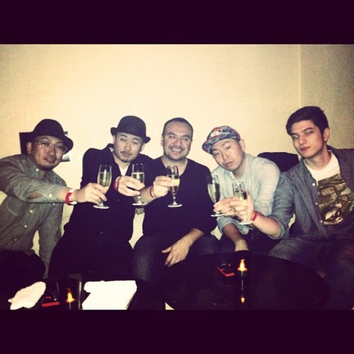 Yuki, Cho-G, @edwindjcity, @djnuckey and myself in Tokyo. It's been a cool trip! #respect #jpnswag