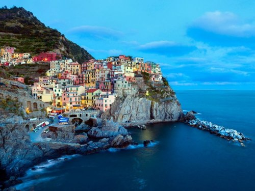 condenasttraveler:  The Most Colorful Cities | Manarola, Cinque Terre, Italy
