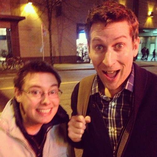 I met Scott Aukerman! (Do your homework that's a big deal) #Comedy #comedybangbang #vancouver #superfans #notagoodselfie #butagreatScotty