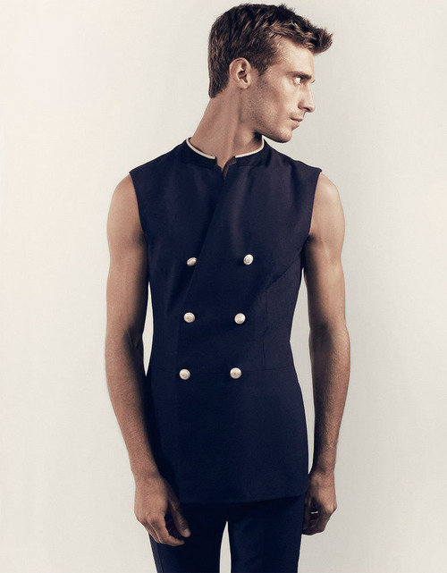 homme—models:  Clement Chabernaud by Hasse Nielsen for GQ Australia