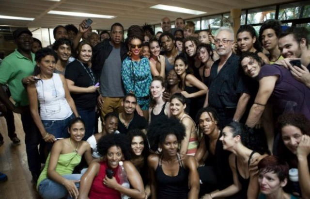 Bey and Jay spotted at University of Arts in Havana, Cuba.