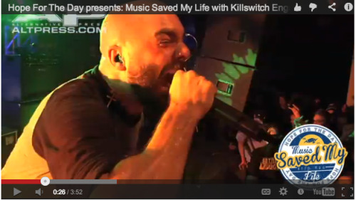 Hope For The Day Presents: Music Saved My Life with Killswitch Engage