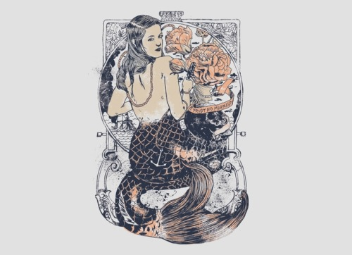 mermageddon:  Trust No Mermaid by Silvio Laerte Pequeno da Rocha - Threadless.com