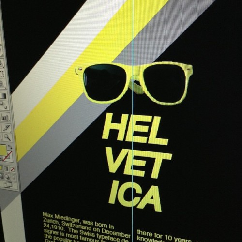 A little preview of my typography poster!  #helvetica #typography #jtcgraphics #graphics