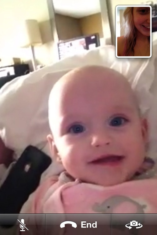 Face timing with my baby sisterrrrr haha