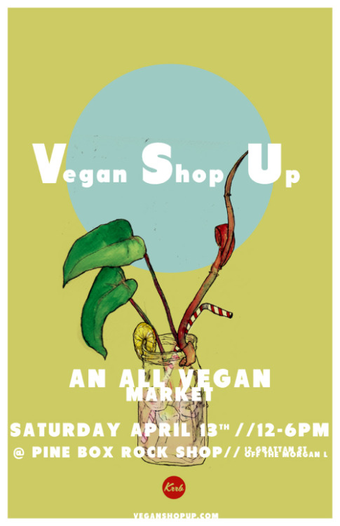 It's spring in New York, and time for the April Vegan Shop-Up at Pine Box Rock Shop! ETHIOPIAN BRUNCH, you guys! Are you going? It's so close to my new place, I have no excuse not to go. So, see you there? Check out the vendors list if you need more encouragement. The April Vegan Shop-Up goes from noon to 6 p.m. on Saturday, April 13, at Pine Box Rock Shop, 12 Grattan St. (like a block from the Morgan L). Vegan shopping + eating + booze, what could be finer?