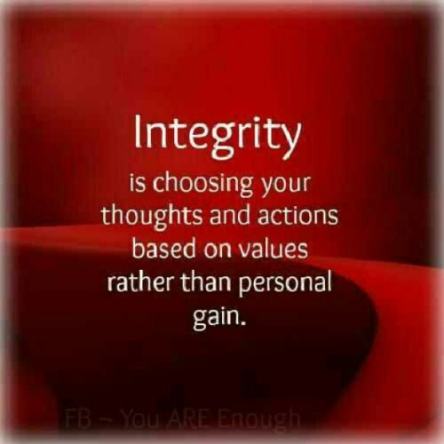 soulkingsk:  Integrity #principle #rule #law   More people of integrity are needed in this world.