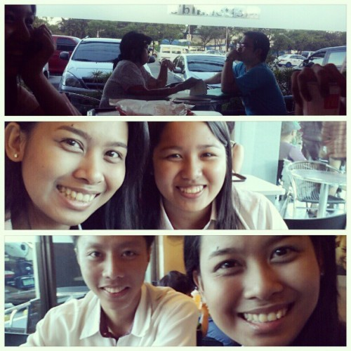 01.18.2013 Kitakits sa #McDo ♥ ;) #2013 #kao #alvin #karen;) #mandy #5AR-2 #college #photoblog #collage #memories #mcdonalds #katipunan ;) (at McDonald's)