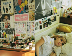 satanasa:  Tavi in her bedroom by Petra Collins for The Ardorous