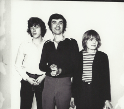 wallflowermanifesto:  Chris Frantz, David Byrne, and Tina Weymouth (of Talking Heads), ca. 1976-1979 by Andy Warhol