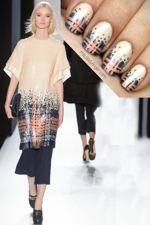 MANICURE MUSE: Mulberry Fall '13 Mad for Mulberry plaid? Get the ladyfinger here.