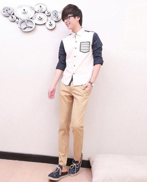 Mặc sơ mi đẹp như các hot boy xứ Hàn