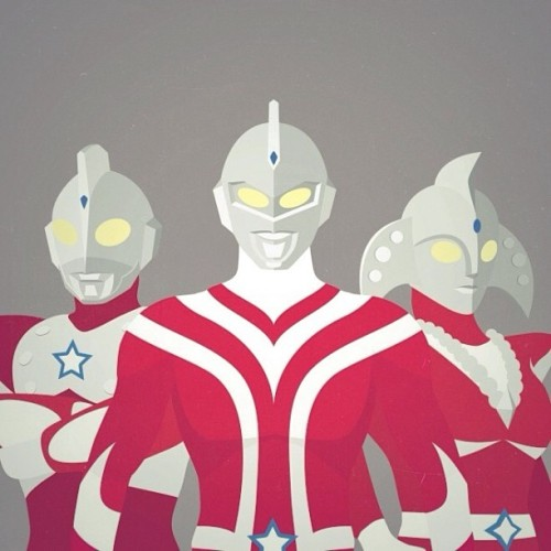 Started working on an Ultraman poster.