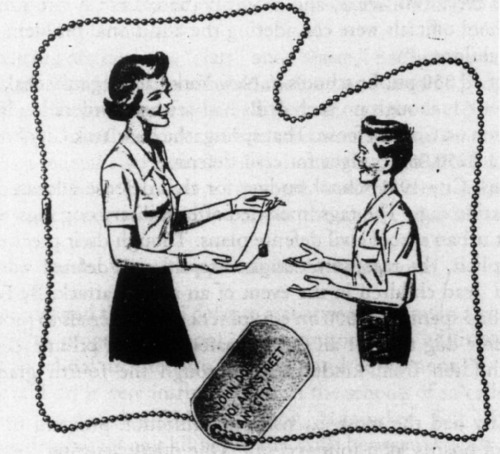 paleofuture:  That Time American School Kids Were Given Dog Tags Because Nukes  I fucking love this. I had no idea. I love this.