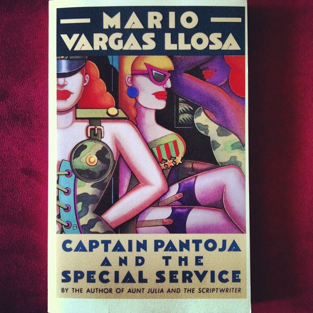 """Captain Pantoja and The Special Service"" by my fellow countryman #MarioVargasLlosa. First published in 1973 as ""Pantaleón y Las Visitadoras"" #Literature #Books #Fiction #ReadingisSexy (at Duckingham Palace)"