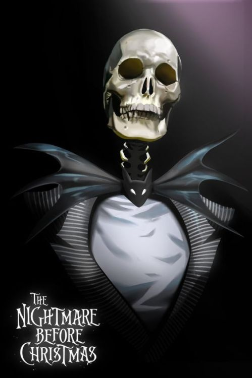 horror halloween halloween movies nightmare before christmas jack skellington skeleton artist unknown