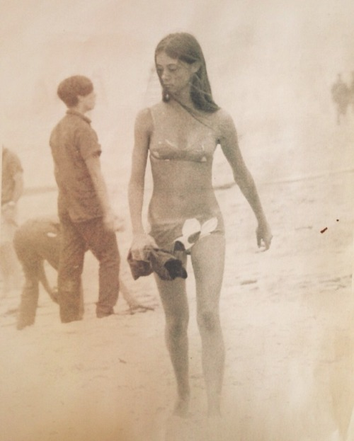 hydrolabsurf:  morganlua:  Mom. | 1967. This photograph was taken around the time she & my dad met; one foggy beach morning on Long Island. He was a college boy & competitive surfer. She was a senior in high school & a complete beach babe.  Ol skool