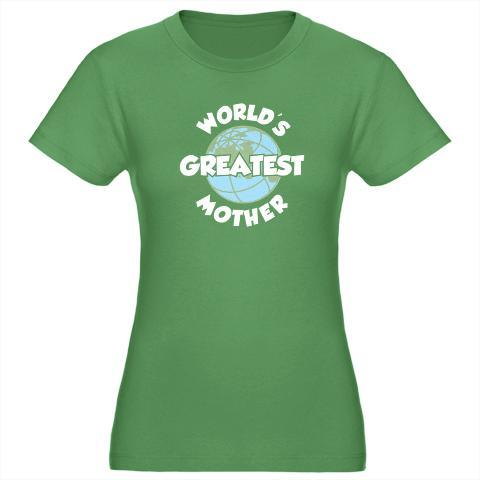 World's Greatest Mother. Does this look like a Mother's Day shirt of an Earth Day Shirt? See it at Detour Designables. #shirtoftheday