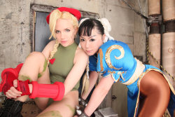 demonsee:  Chun-Li and Cammy by ~Elin-Kuzunoha
