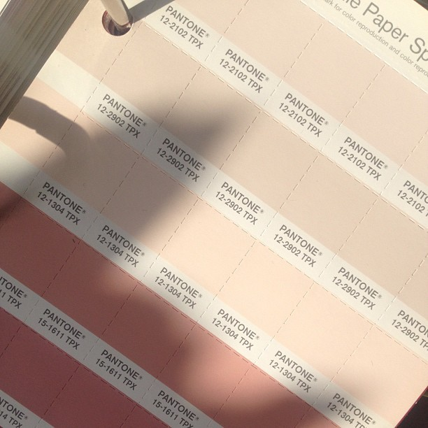 I'm blushing over the Pantone choices. #color#pantone#beautiful #blush#collection (at home of the Style Monk)
