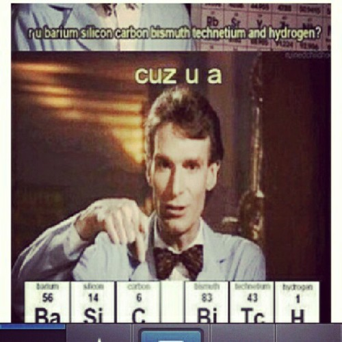 It ain't my fault youz a basic bitch. #not #my #fault #cunt #lol #bill #nye #science #guy #meme