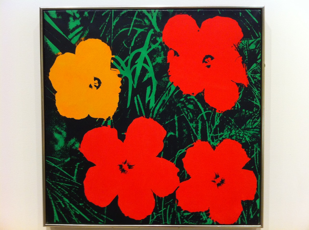 andy warhols flowers original in art galellery of new south wales,sydney