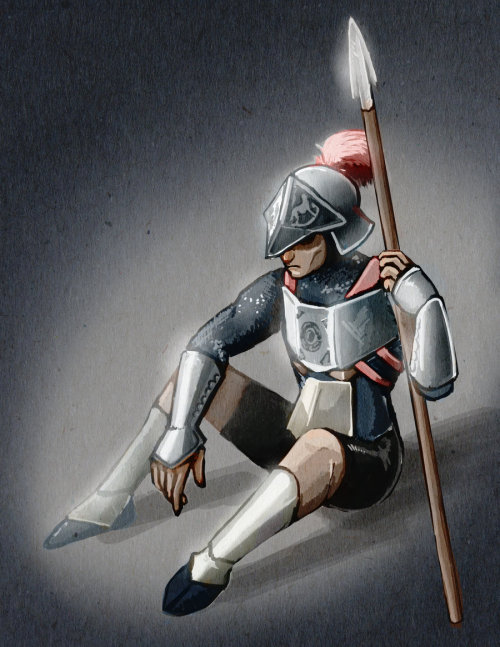dodongodislikessmoke:  The Lonely Knight by ~Cojirou